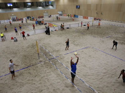 THE HAGUE, NETHERLANDS - JUNE 13: during the FIVB Beach Volleyball World Tour at the Sportcampus Zuiderpark on June 13, 2017 in The Hague, Netherlands. (Photo by Gonzalo Arroyo Moreno/Getty Images for FIVB)
